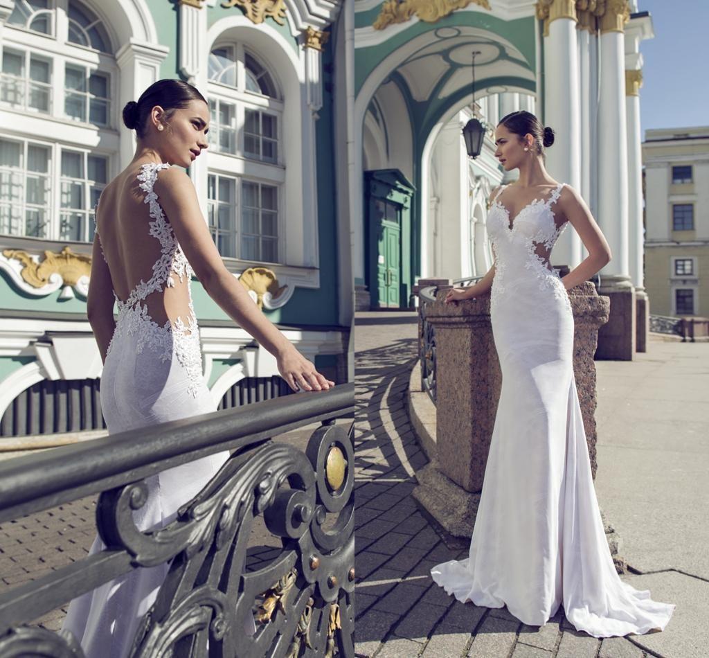 2016 Designer Wedding Dresses By Israel Nurit Hen V Neck Beaded ...