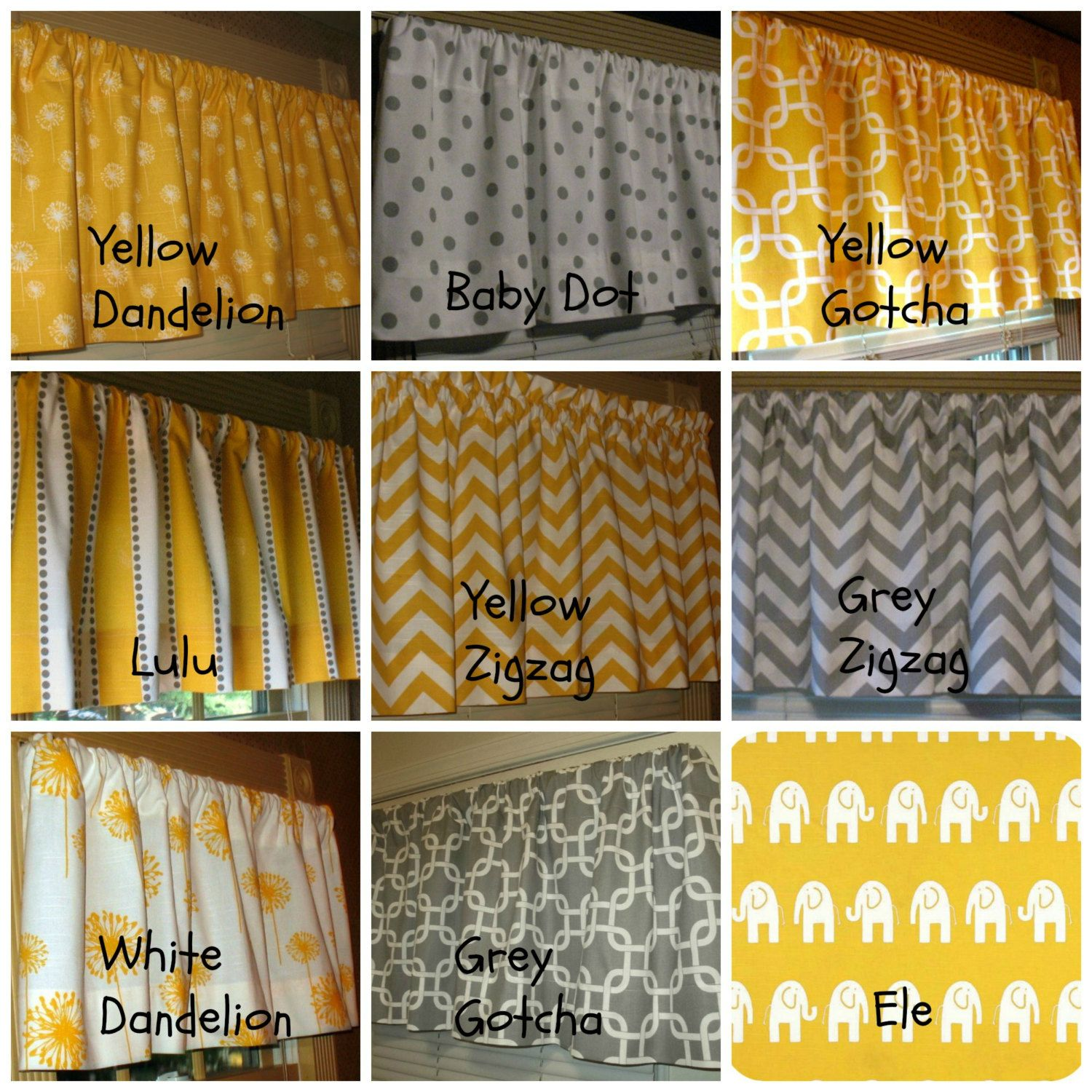 Kitchen Curtains Yellow And Gray: Window Curtain Valance Premier Prints Corn Yellow And Grey
