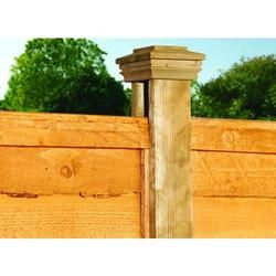 Wickes H Shaped Slotted Timber Fence Post 90 X 90mm X 2