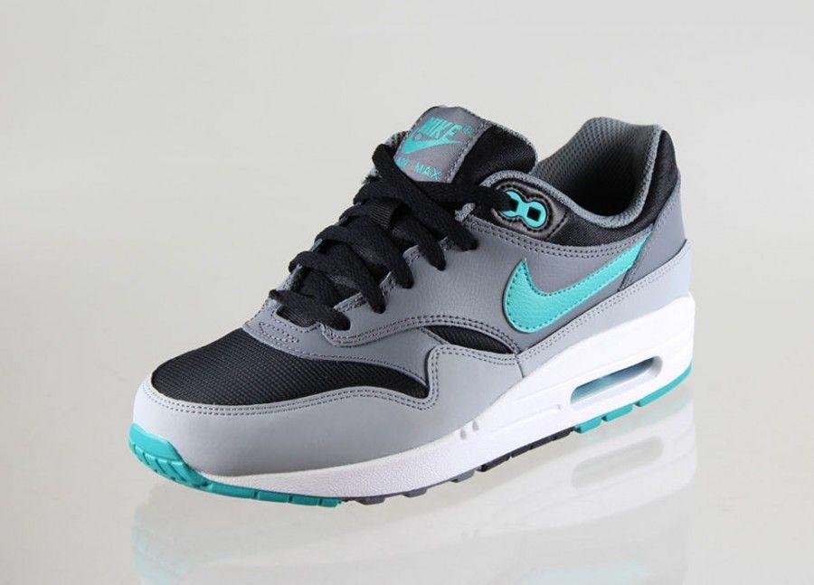 nike air max 1 black grey turquoise