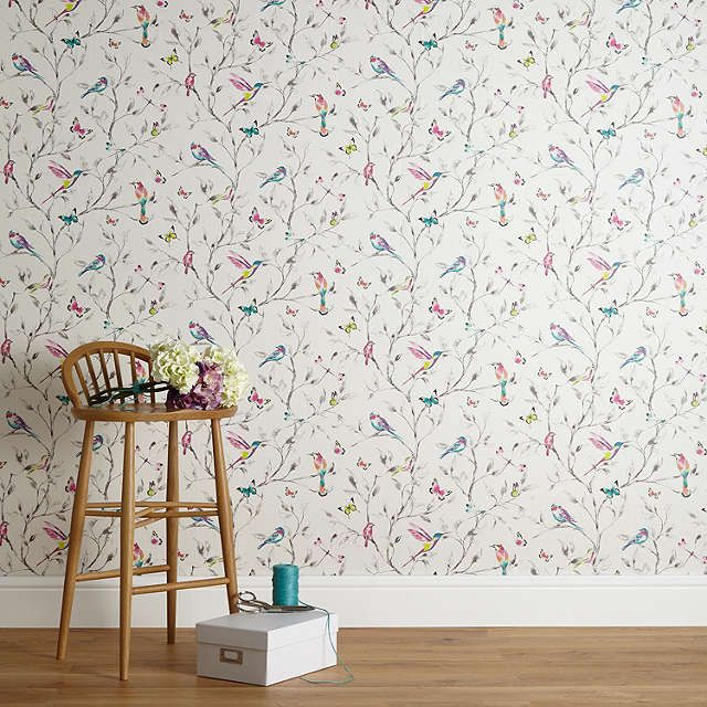 John Lewis Hummingbird Trees Wallpaper Multi Online At Johnlewis