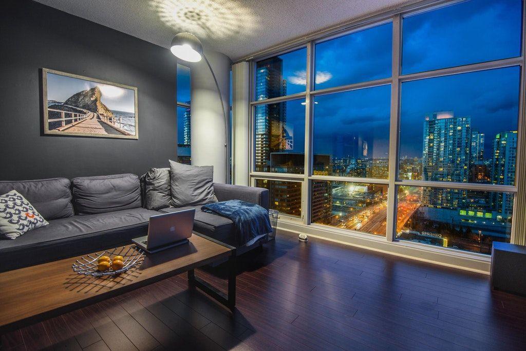 My Toronto Living Room At Night Malelivingspace Modern Apartment Living Room Apartment Living Room Design Apartment Living