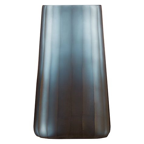 Buy Design Project By John Lewis No138 Mid Pleated Glass Vase Navy