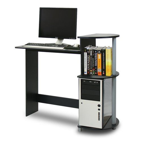 Meagan Desk Compact Computer Desk Computer Desk With Shelves Computer Desk