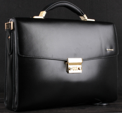 a88bc7715135 Upscale Black Leather Business Gentlemen Briefcase | www.pilaeo.com ...