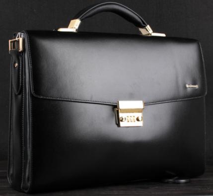 Upscale Black Leather Business Gentlemen Briefcase | www.pilaeo ...