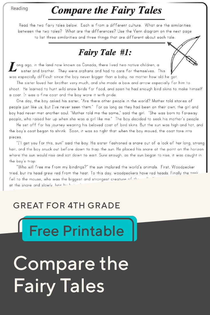 Download This Free Compare The Fairy Tales Worksheet For Your Fo Reading Comprehension Activities Reading Informational Texts Reading Comprehension Resources [ 1102 x 735 Pixel ]
