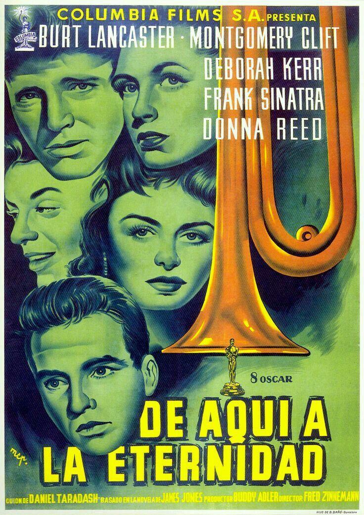 Pin By Mercer On Carteles De Cine From Here To Eternity Montgomery Clift Deborah Kerr