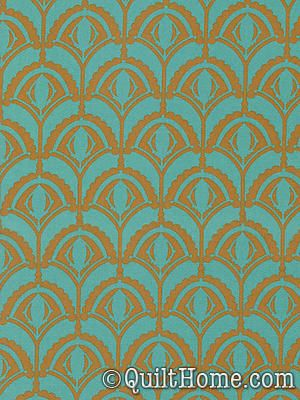 Drawing Room HDAH07 Teal Home Decor Fabric By Anna Maria Horner