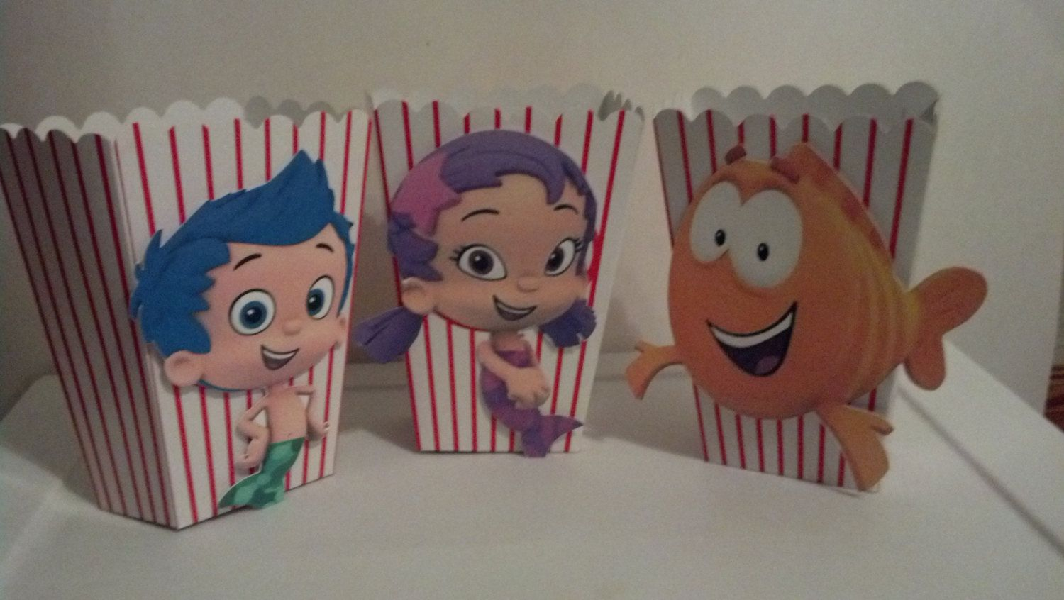 Bubble Guppies Birthday Party Treat Favor Loot Popcorn Boxes Set of ...