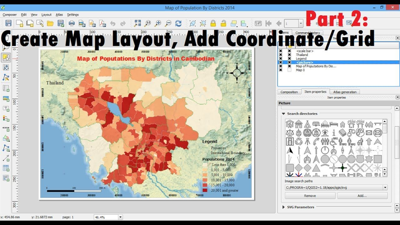 Create Map layout QGIS | Printing and Exporting