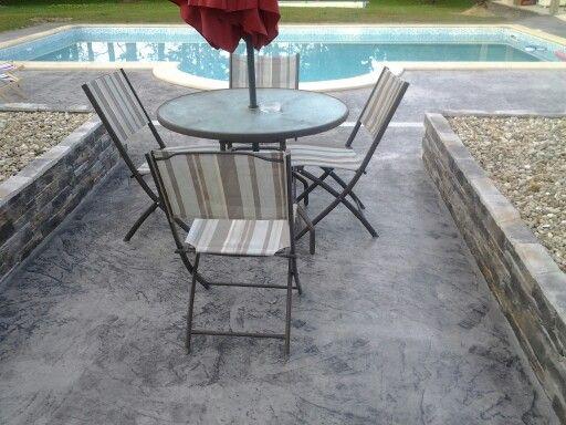 Beton imprimé pour une terrasse reussie AMENAGEMENTS EXTERIEURS - Dalle De Beton Exterieur