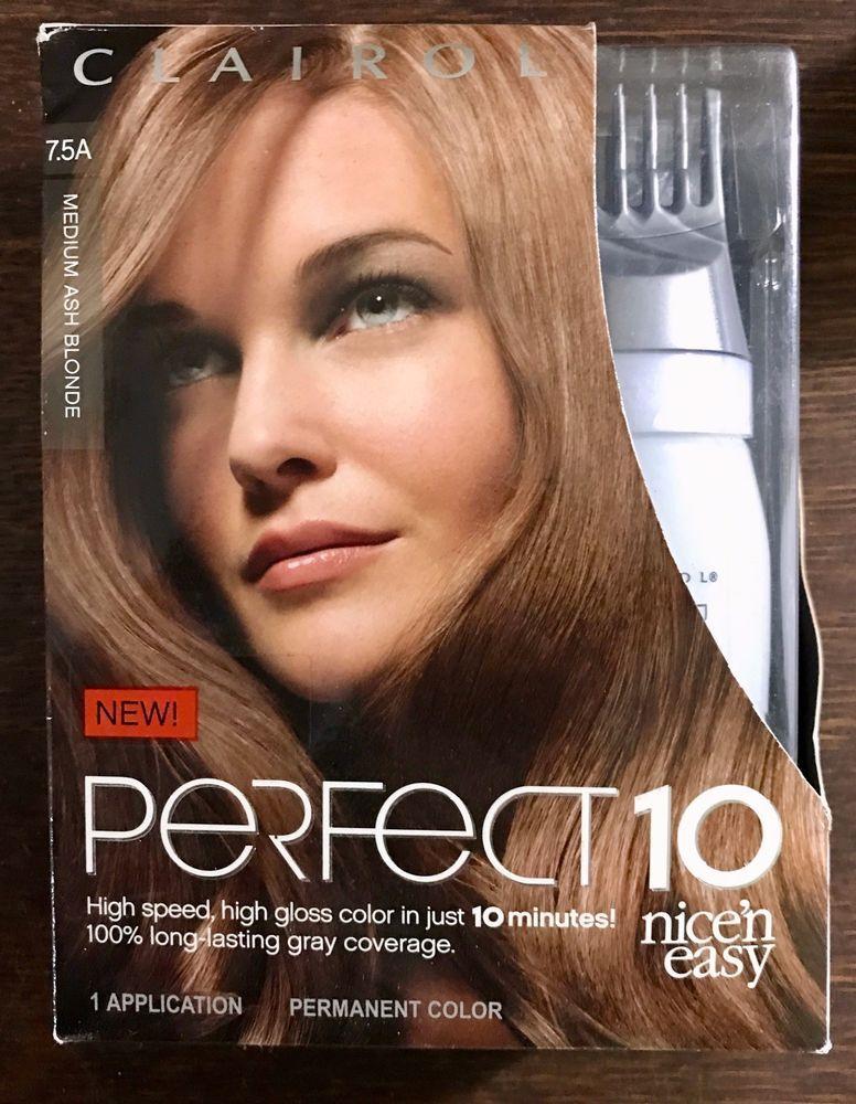 Clairol Perfect 10 Nice N Easy Hair Color Medium Ash Blonde Free