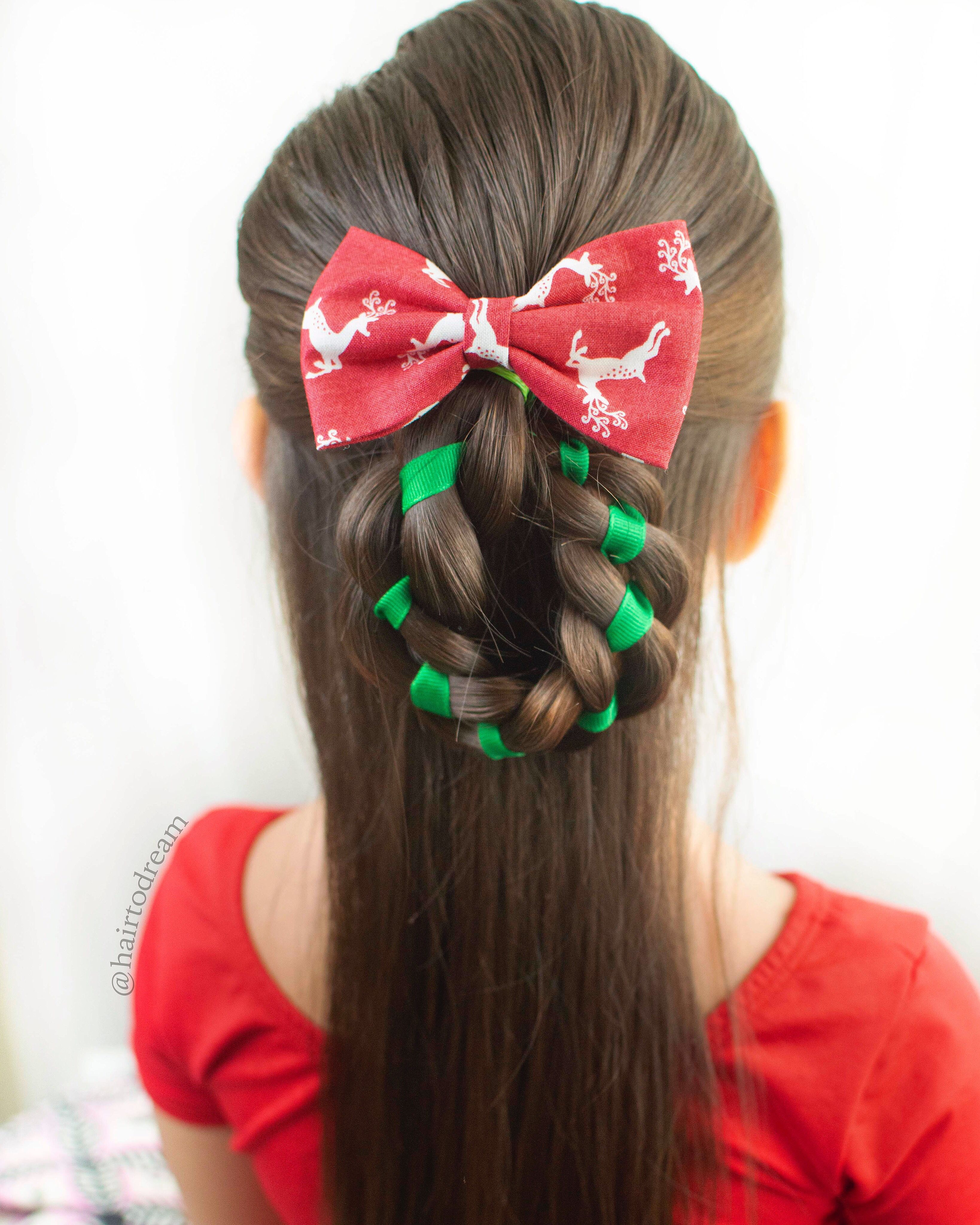 Christmas Hair For Girls Christmas Hairstyles Kids Hairstyles Braids For Kids