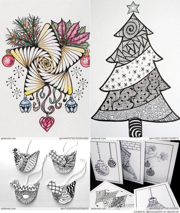 Zentangle Patronen Gratis Christmas Zentangle Patterns Zentangle Patterns Zentangle Zentangle Drawings