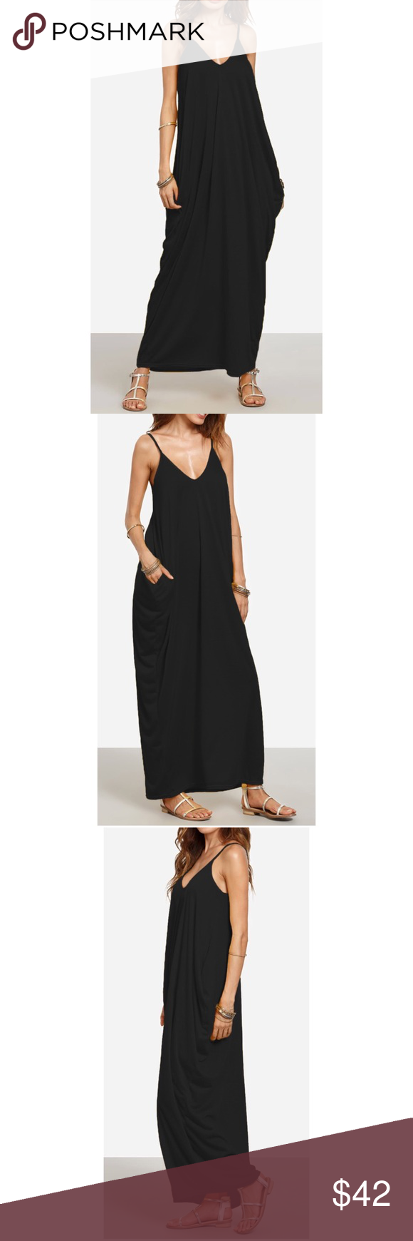 50a9223535 🆕Ahea Black Maxi Dress Brand new. Super comfortable to wear. Fabric has  some