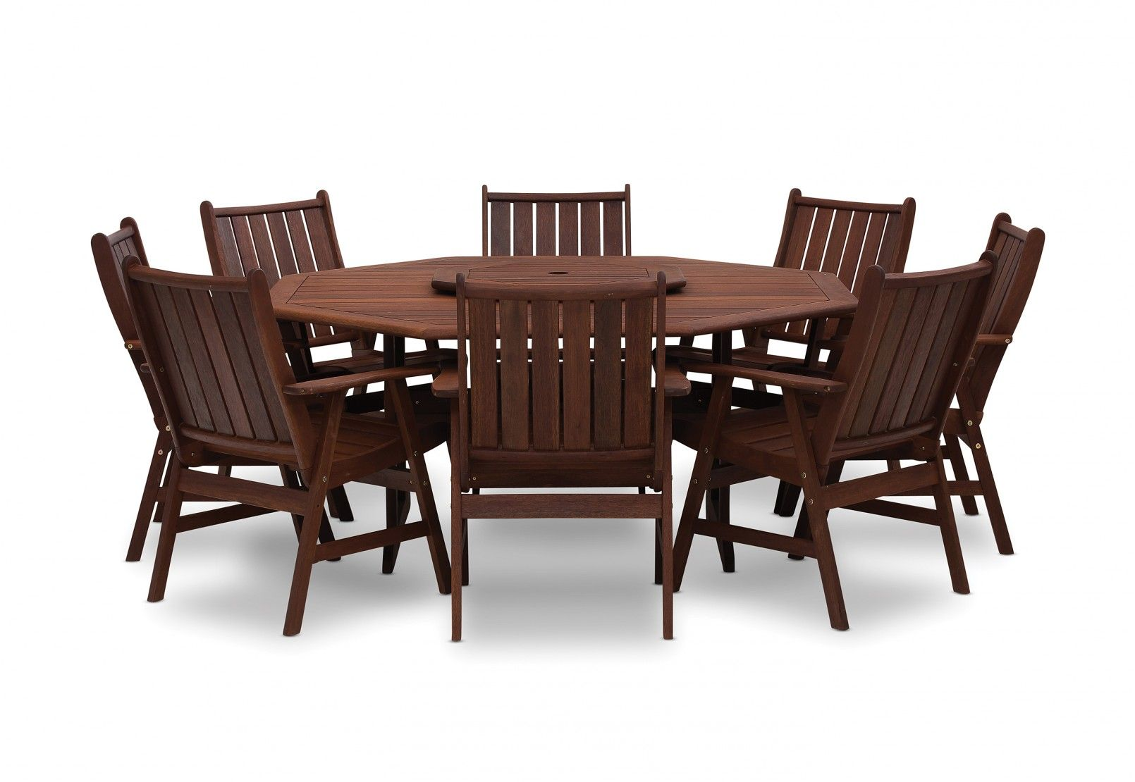 Frontier 9 Piece Outdoor Octagonal Dining Suite Square Patio Table Outdoor Dining Furniture Dining Table Accessories
