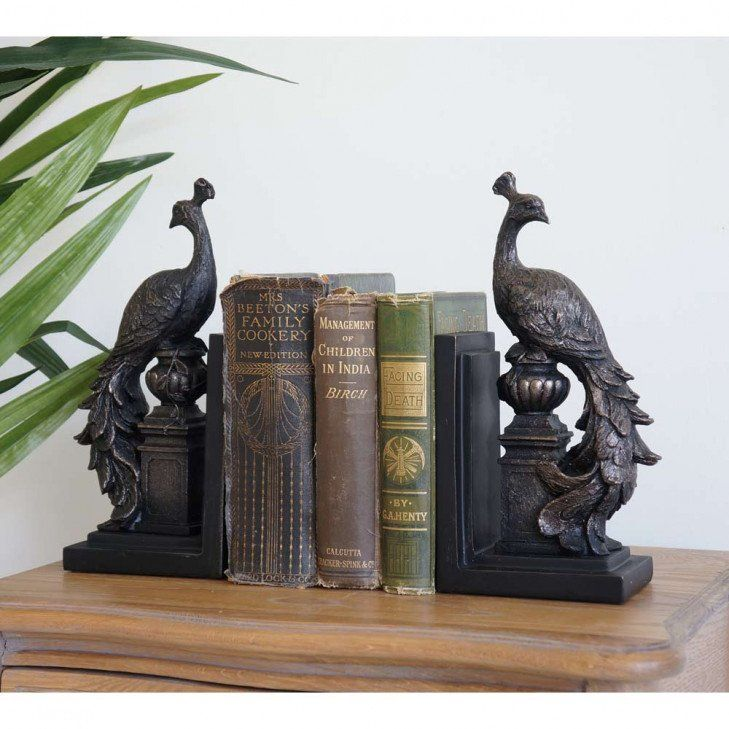 Strikingly Idea Bird Bookends. Peacock Bookends  Pair Peacocks French furniture and Reading nooks