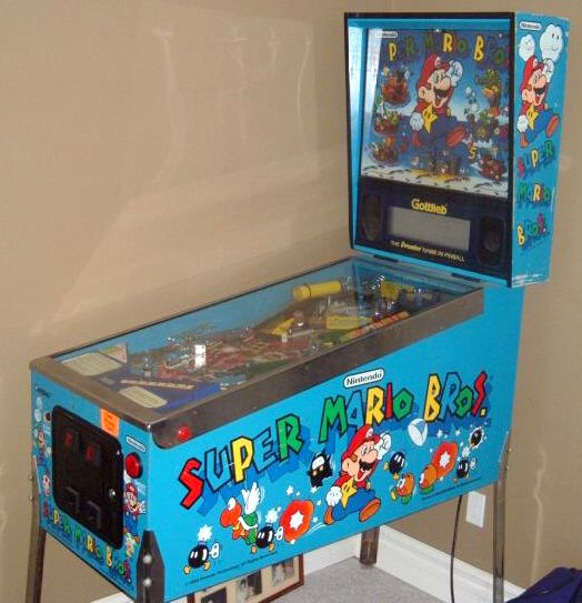 Super mario bros pinball machine! | My future basement bar ideas