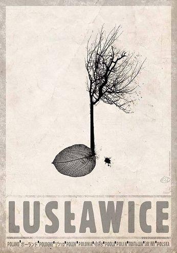 Lusławice Plakat Z Serii Polska Ryszard Kaja Graph W