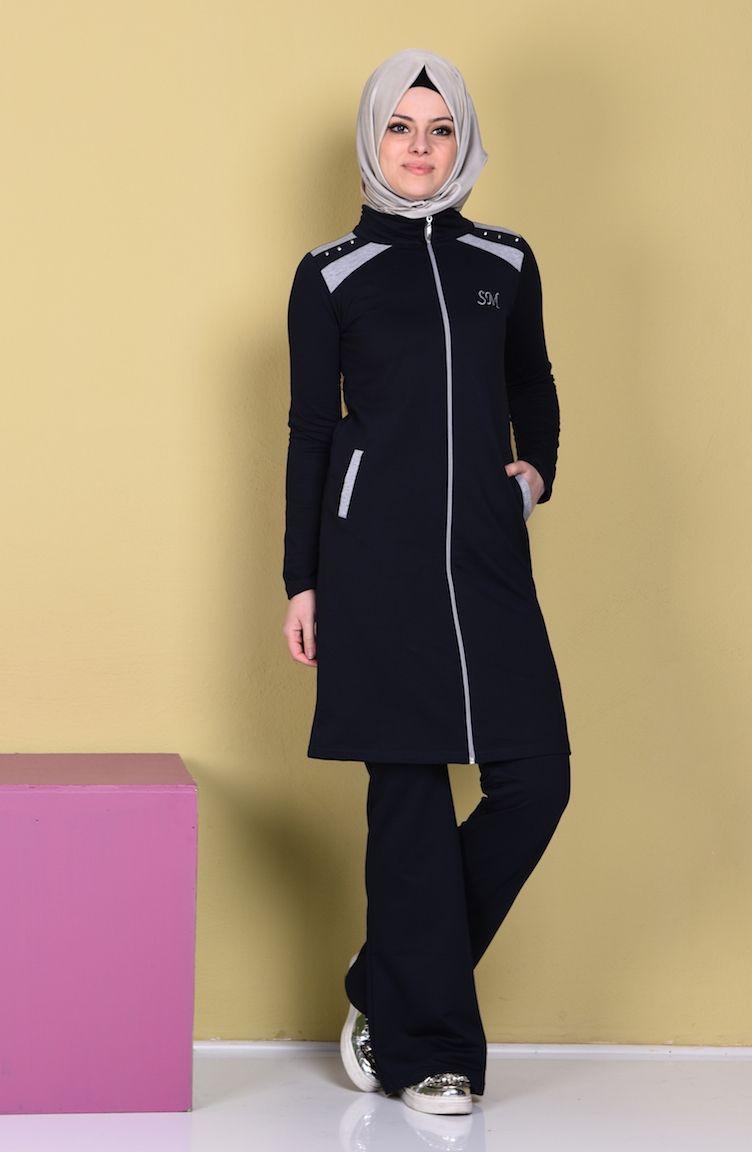 Sefamerve Lacivert Esofman Arjen0360 02 1809071492506038424 1 752x1152 Jpg 752 1 152 Pixels Girls Tracksuit Sport Dress Muslim Fashion Hijab