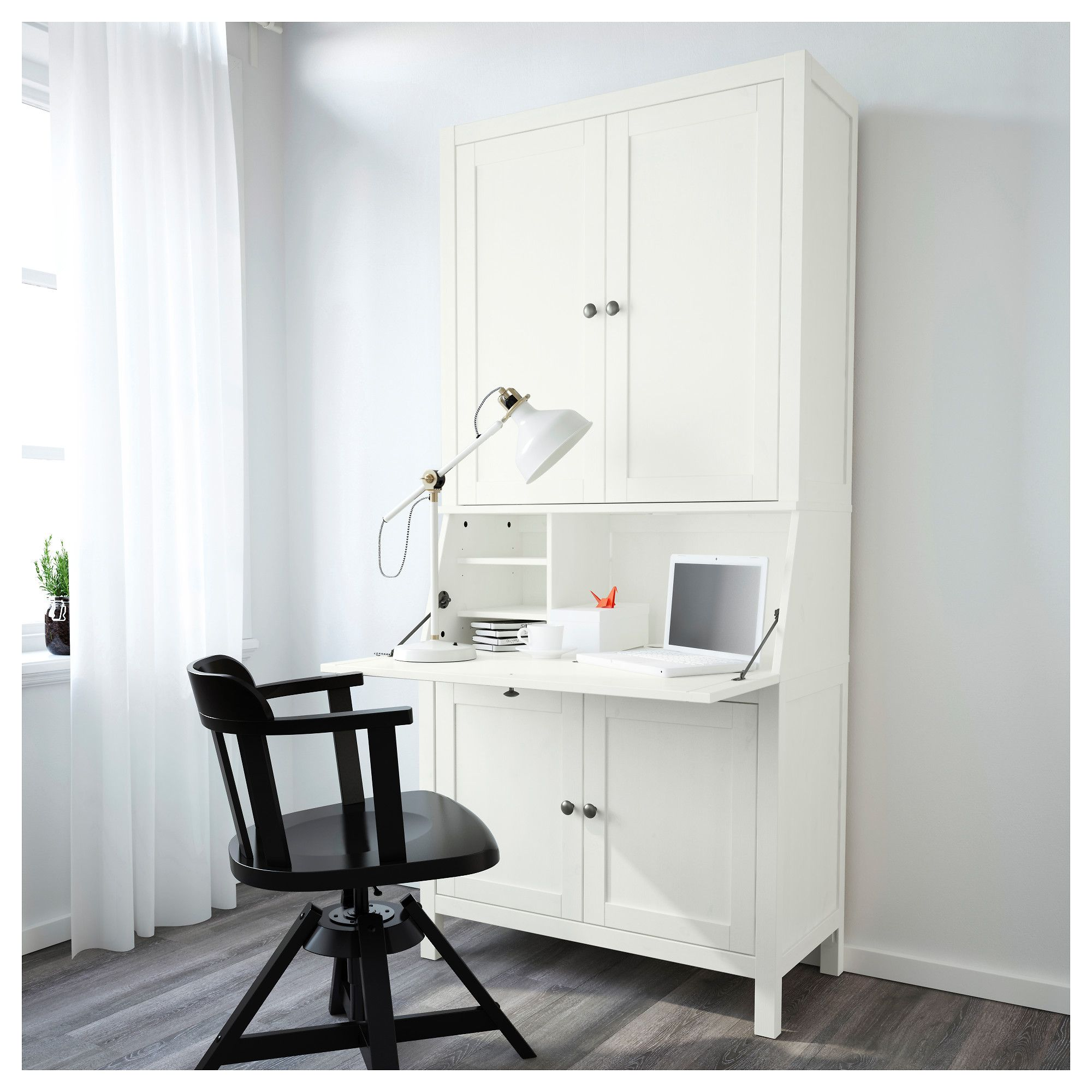 IKEA HEMNES Bureau With Add On Unit Light Brown 89x197 Cm Built In Cable Management For Collecting Cables And Cords Out Of Sight But Close At Hand