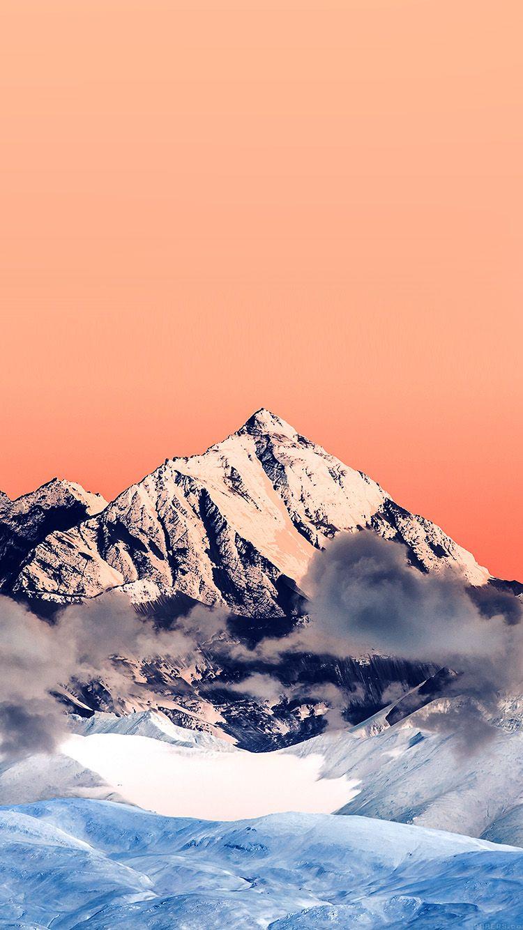 Mr58 Snow Solo Orange Mountain High Nature Smartphone Wallpaper Aesthetic Desktop Wallpaper Landscape Wallpaper
