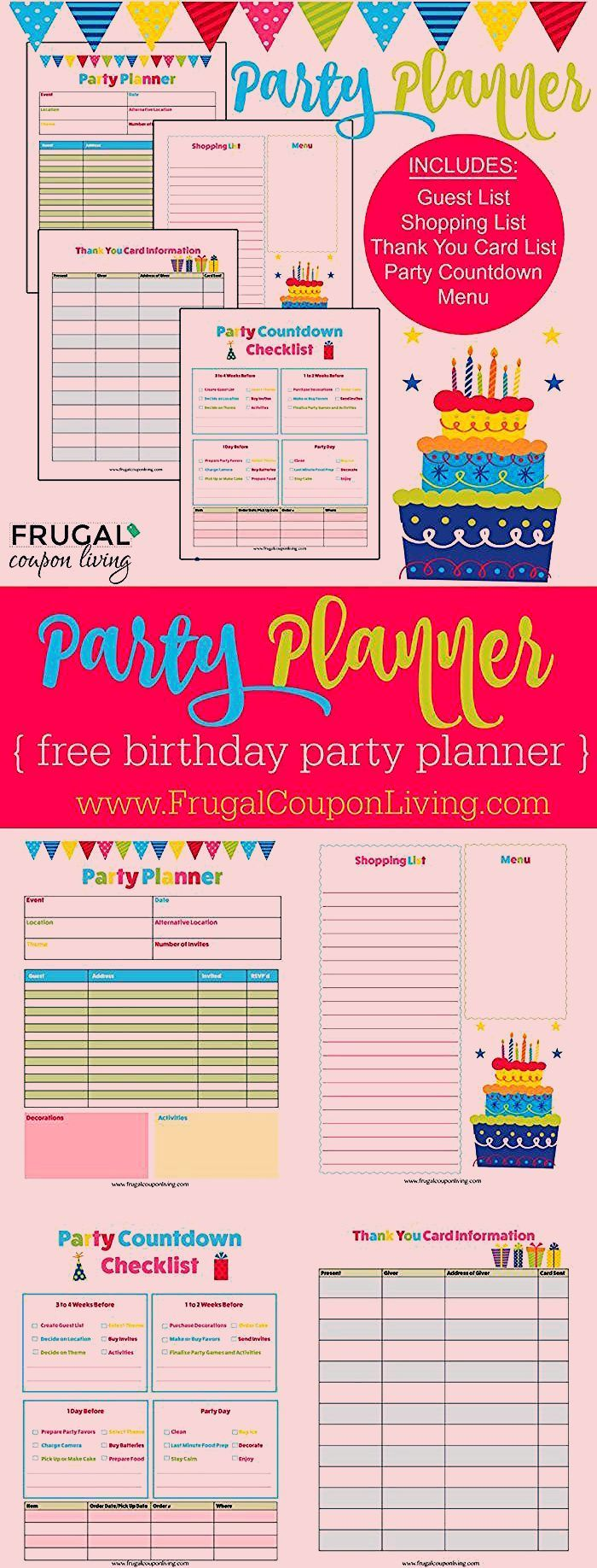 Photo of FREE Birthday Party Planner
