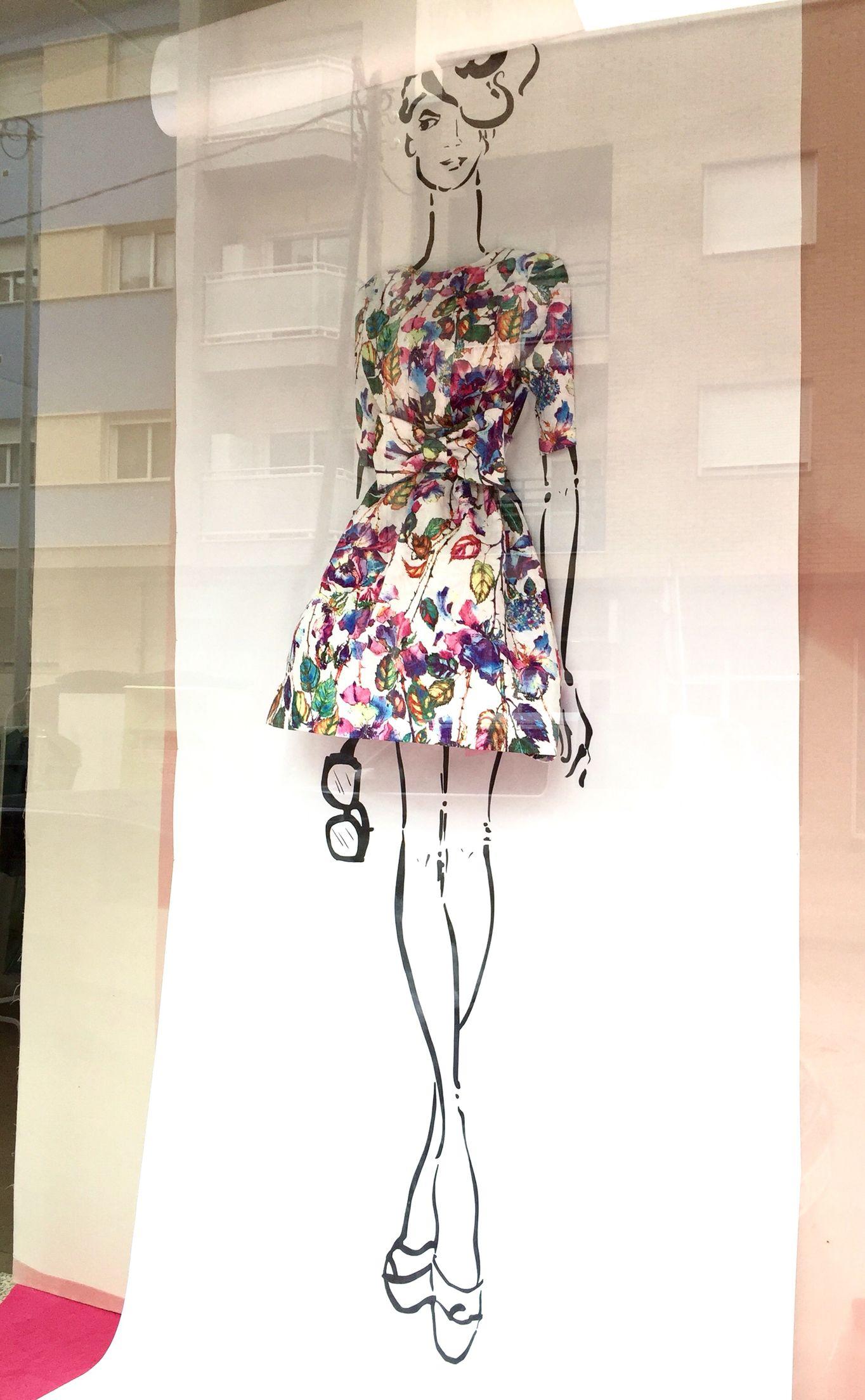 """DELOLITA COSTURA, Alquerias, Murcia, Spain, """"Bocetando tu Moda"""", (Sketching your Fashion), creative by Pablo Escaparatista, pinned by Ton van der Veer"""