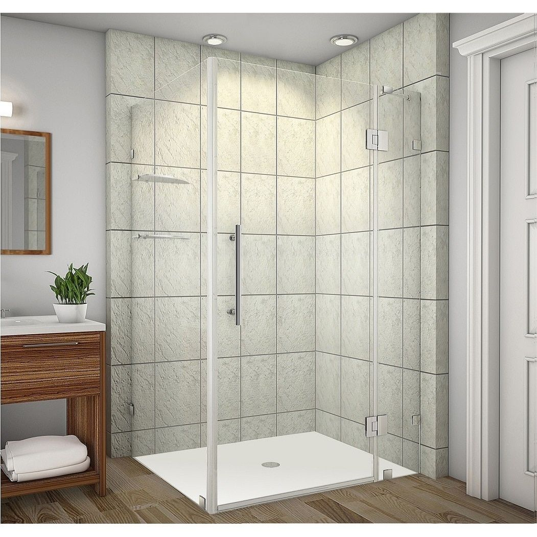 Aston Avalux Gs 48 X 38 X 72 Inch Completely Frameless Shower Enclosure With Glass Shelves Stainless Steel Silver Finish Products In 2019 Bathtub Enclo