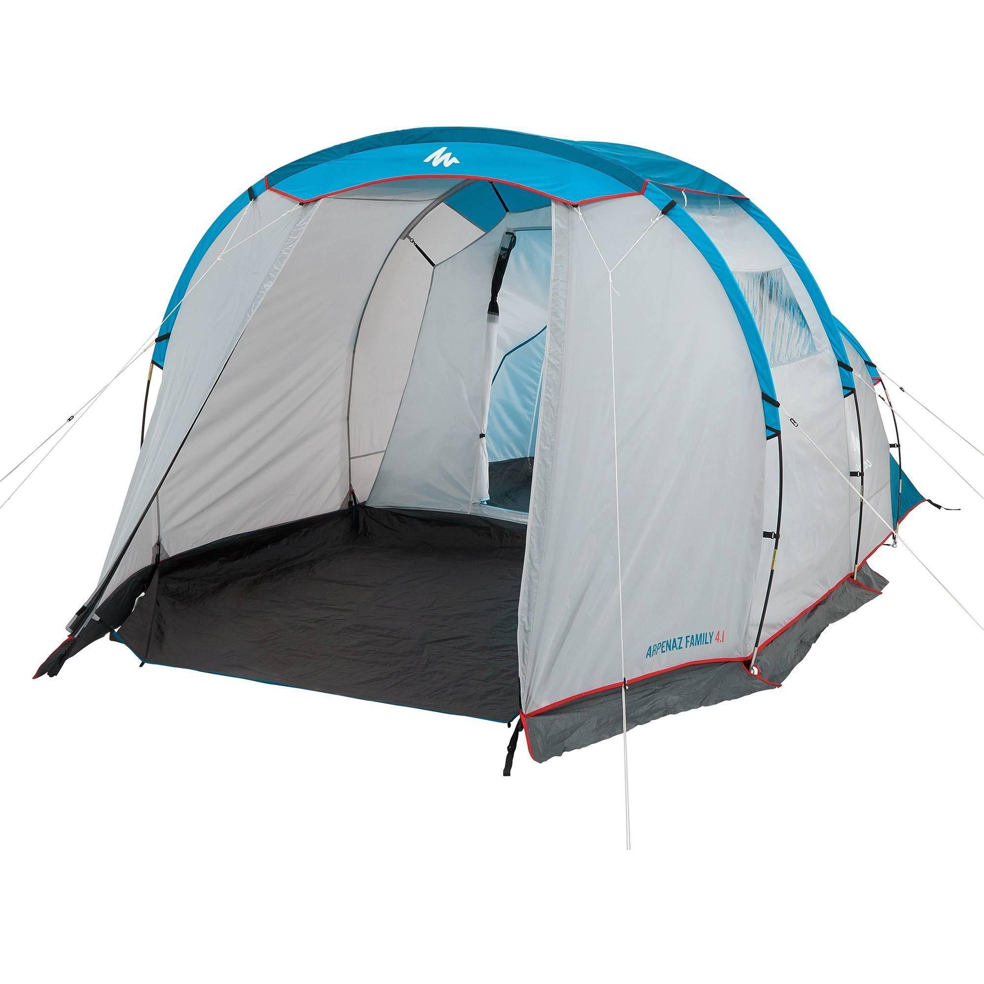 Kampeertent Met Bogen Voor 4 Personen Arpenaz 4 1 Met 1 Slaapcompartiment Kamperen Tent Kamperen Met De Tent