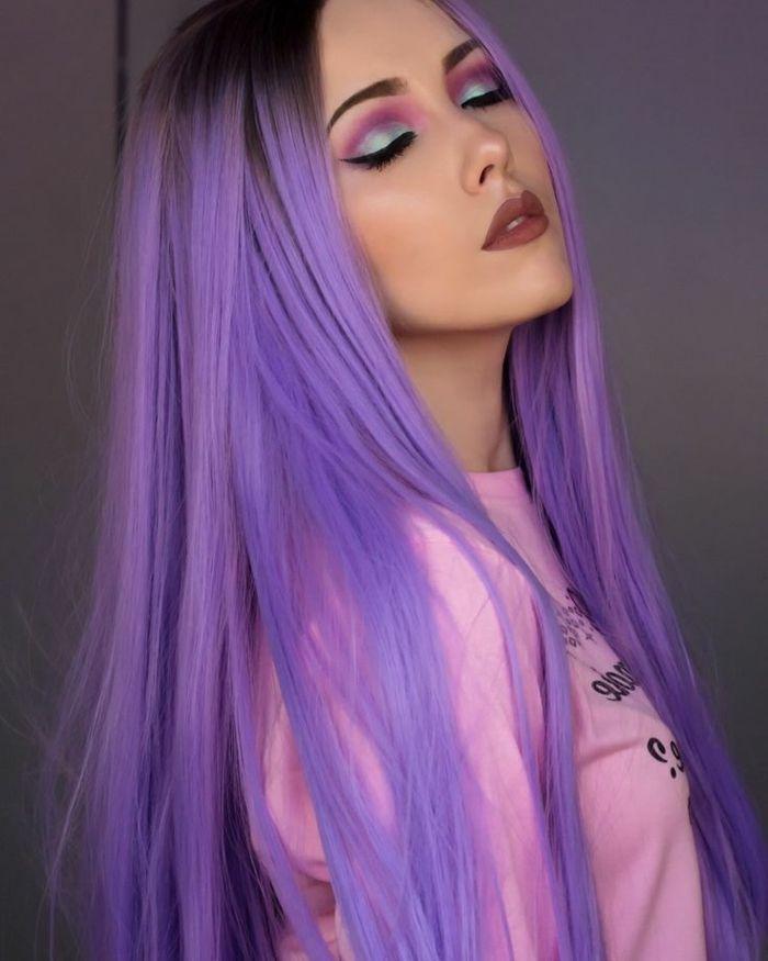 1001 ideen f r bunte haare bunte haarfarben sind immer aktuell brauner lippenstift rosa. Black Bedroom Furniture Sets. Home Design Ideas
