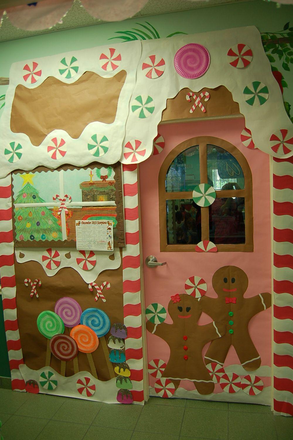 Gingerbread Holiday Doors Christmas Classroom Door