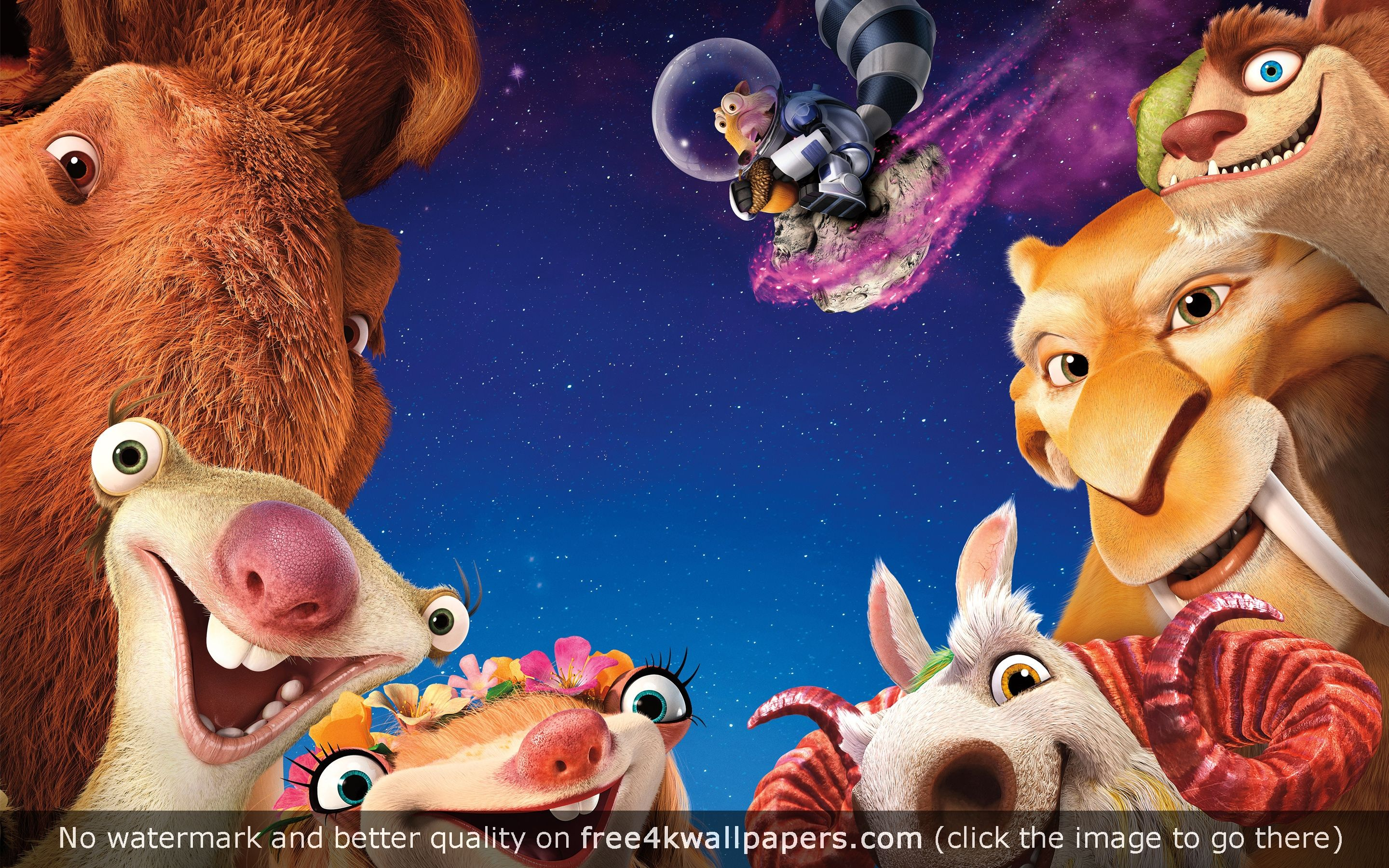 ice age collision course 5k animation wallpaper | desktop wallpapers