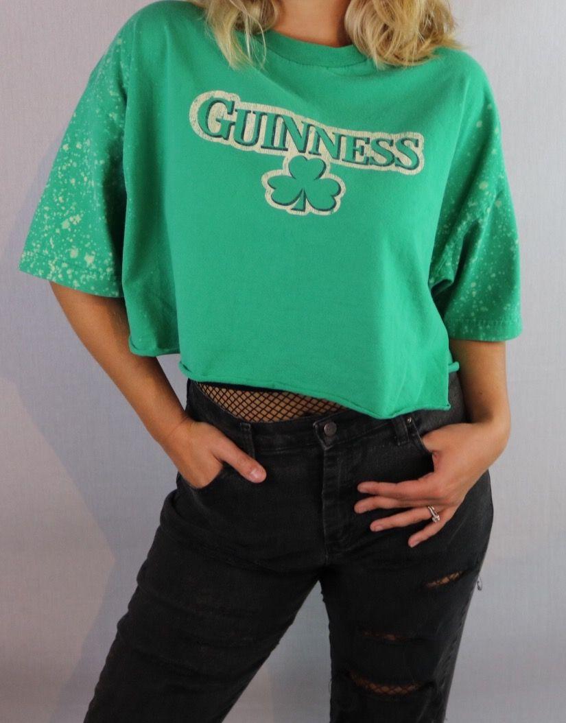 93ead473a130b Custom Bleached Guinness croptop. Edgy street style