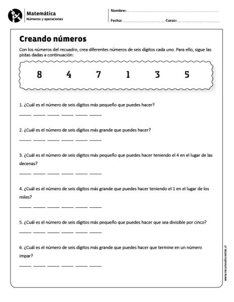 Creando Números Matematicas Actividades De Matematicas Matematicas Fracciones
