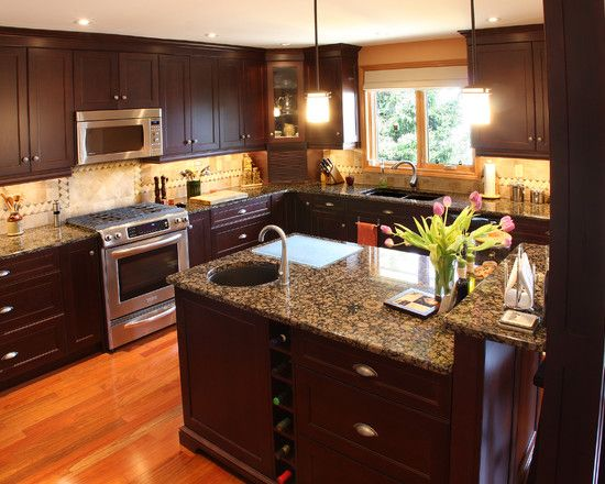 Kitchen Cabinets Design Ideas Photos transitional kitchen with classic wood cabinets Dark Kitchen Cabinets Design Pictures Remodel Decor And Ideas Page 29