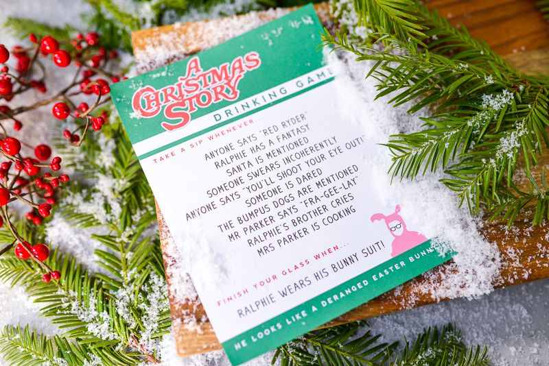 A Christmas Story Drinking Game Seasons, Crafts and Sandwich recipes