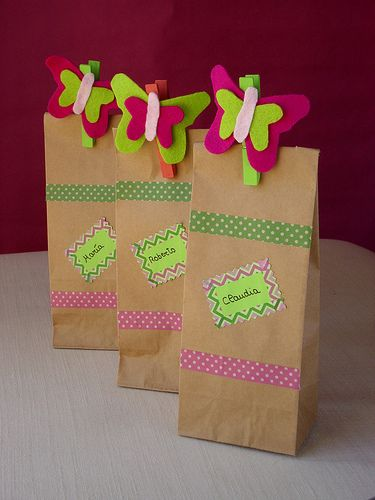 Mariposas con chuches/ Candy and butterflys