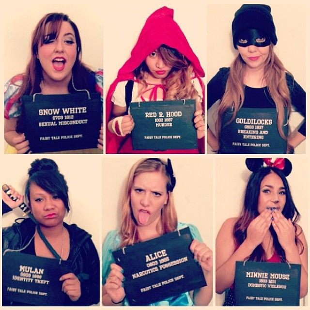 Best group costume ever fairy tale convicts disney princess awesome way to personalize your fairytale costume diy prison signs turn them into fairytale convicts solutioingenieria Image collections