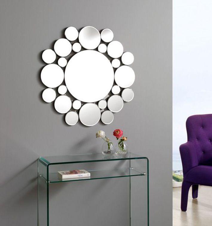Espejos con lunas de cristal atomo espejos de pared de for Espejos redondos para decoracion