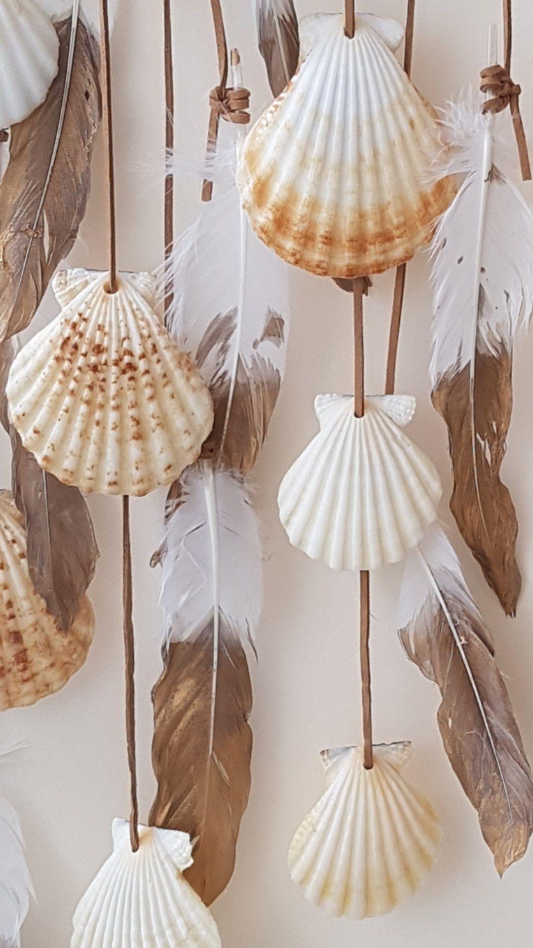 Jouw Platform Voor Het Kopen En Verkopen Van Handgemaakte Items Ibiza Boho Schelpen Decoratie Wit Tuin Veren Cadeau St In 2020 Beach Wall Decor Shell Decor Decor