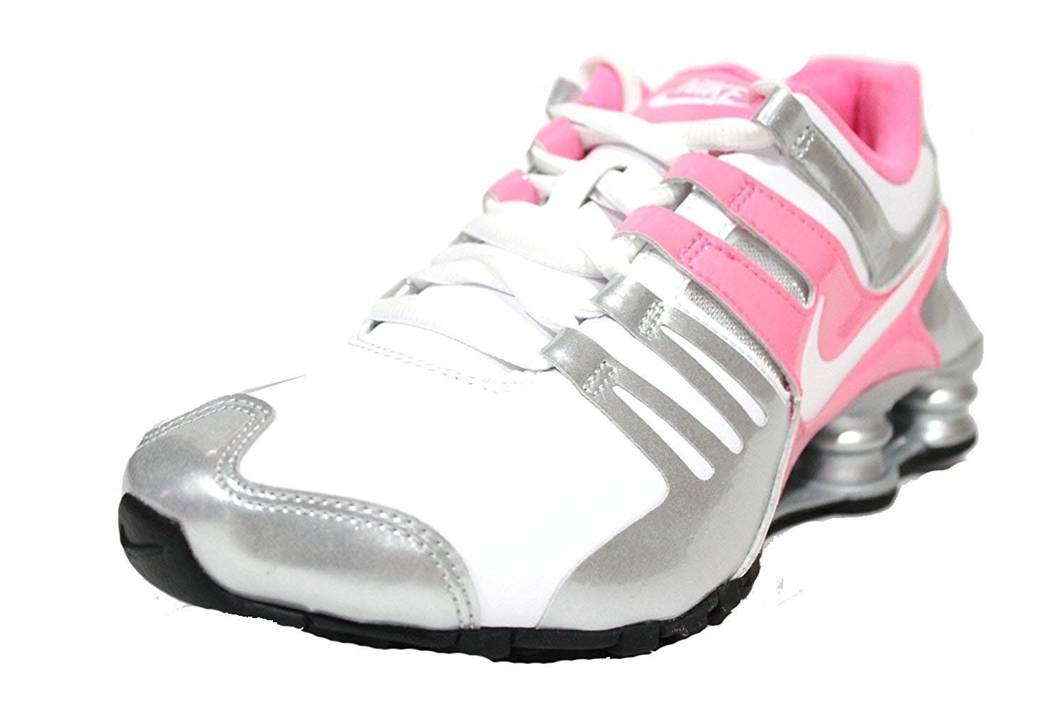 73e8c0be6a7 Nike Women s Shox Current White Pink Silver Running Shoes 639657 102 size  6.5     For more information