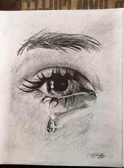Zeichenaugen weinen Bleistiftkunst 29+ Ideen #pencildrawingtutorials