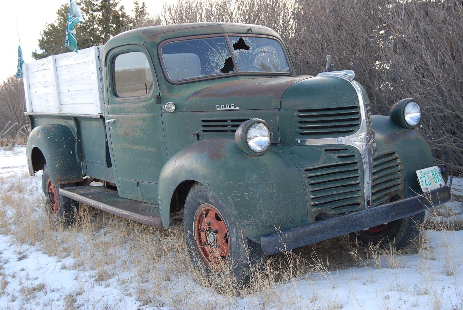 Vintage Dodge Truck In Saskatchewan Dodge Truck Old Dodge