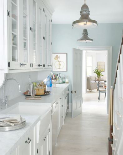 A Little Bit Of Country Light Blue Kitchens Blue Kitchen Walls Kitchen Wall Colors