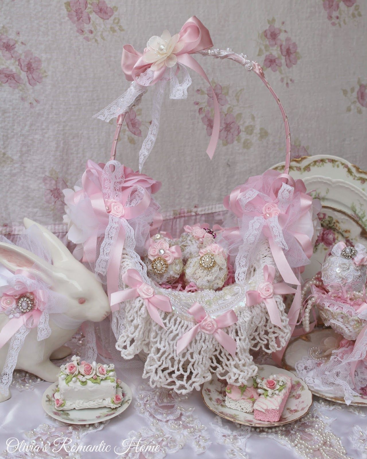Olivias romantic home pretty pitcher pinterest romantic olivias romantic home glam easter baskets negle Images
