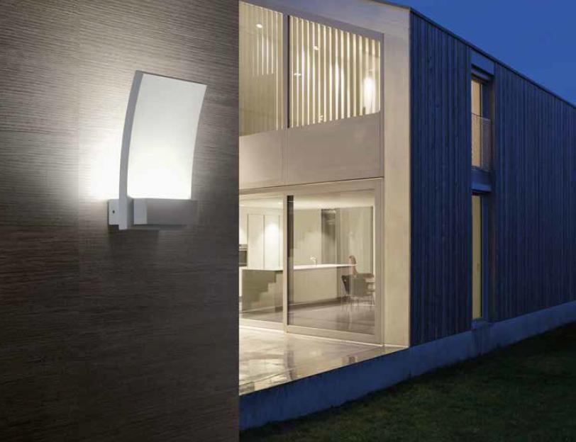 Vela applique led w sostituibile per esterno ip bianco o