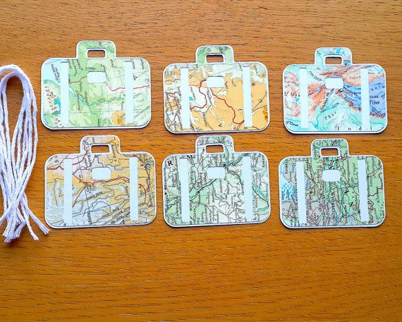 Travel theme gift tags suitcase shaped world map gift tags atlas travel theme gift tags suitcase shaped world map gift tags atlas birthday wedding gift tags favour tags party tags gumiabroncs Gallery