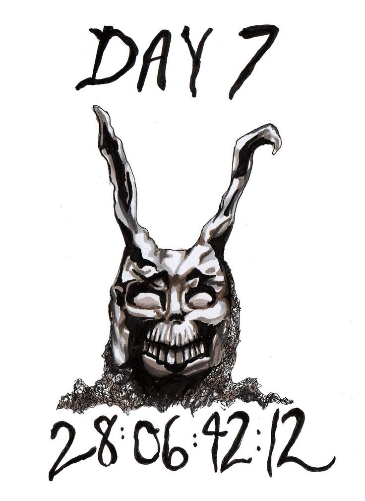 Stfu! Rczość: défi de signalisation de 30 jours. Donnie Darko Fanart - #darko #donnie #fanart #tagige #zeichenvorausforderung